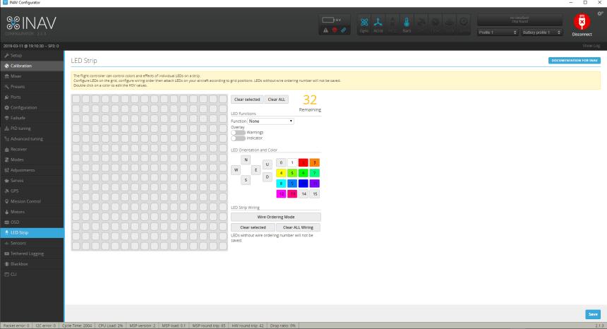 INAV Configurateur Configurator LED Strip