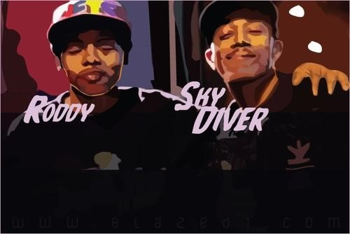 young roddy and trademark da skydiver