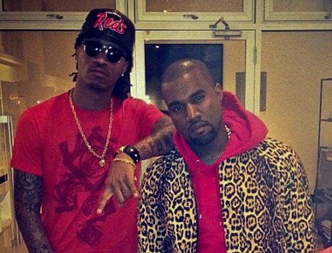 Future and Kanye West in the Studio