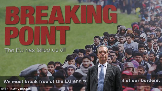 Nigel Farage Breaking Point Poster - Brexit