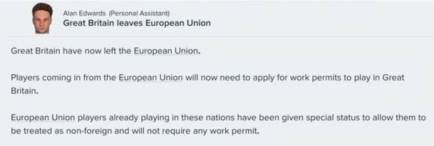 Football Manager 2017 Brexit