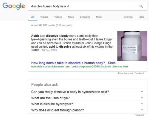 dissolve human body acid