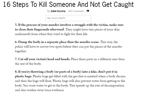 how to kill someone