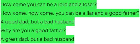 Eminem - bad husband lyrics