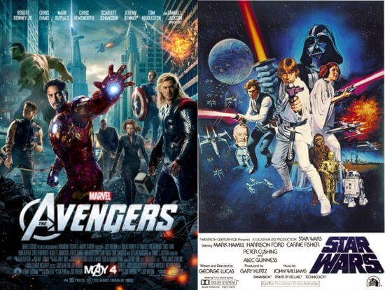 Avengers - Star Wars movie posters