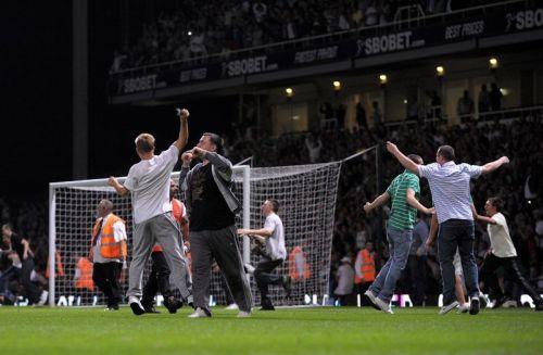 West Ham United v Millwall pitch invasion