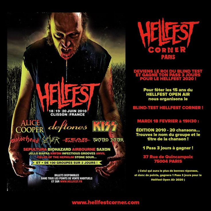 Blind Test Hellfest Corner 2010