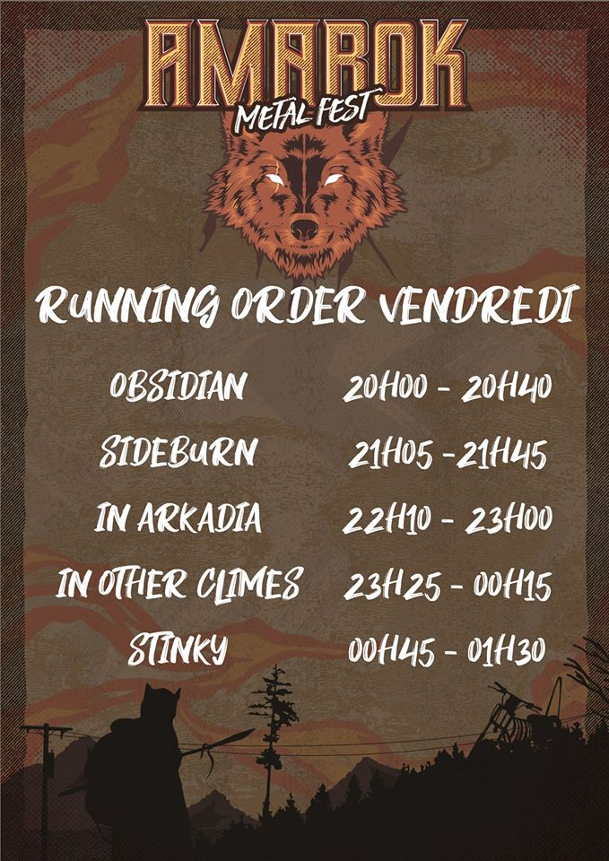 Amarok Metal Fest - running order vendredi