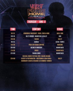 Hellfest From Home jeudi 17