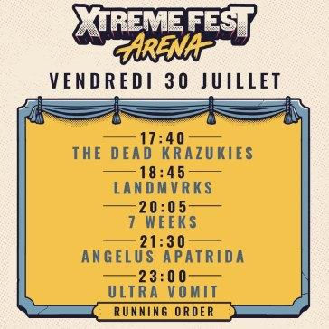 Xtreme Fest Arena 2021 vendredi 30