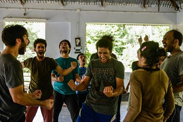 Actor Chorus Text (ACT) Residency, Shantiniketan, 2016