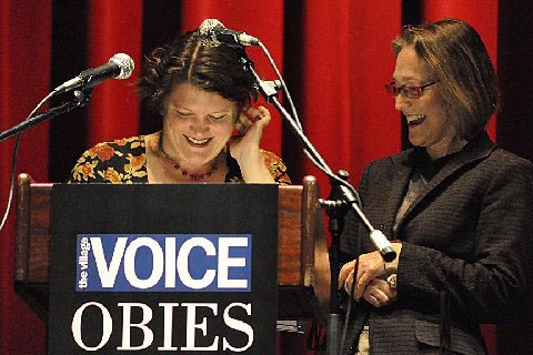 HERE they are: Kristin Marting and Kim Whitener win Obie Awards