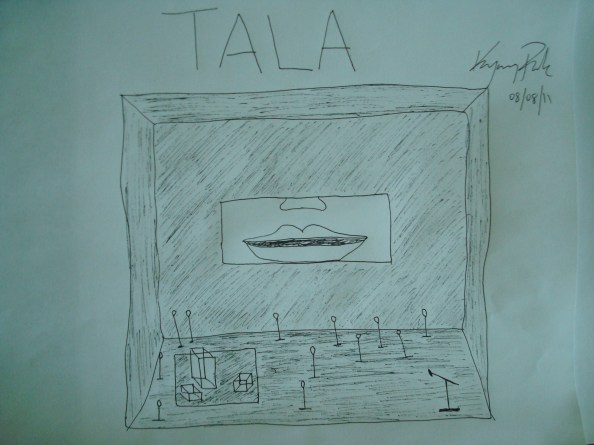 "Playwright Kyoung H. Park's sketch for his own play ""Tala"" 
