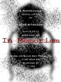 """In Memoriam,"" an installation and performance piece by Jeho Bitancor"