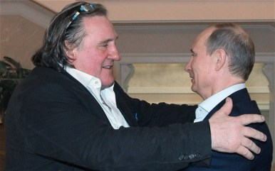 Gerard Depardieu meets Russia's Alexander Putin | Courtesy of Reuters