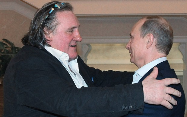 Gerard Depardieu meets Russia's Alexander Putin | Courtesy of Reuters