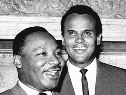 Dr, Martin Luther King Jr. and Harry Belafonte