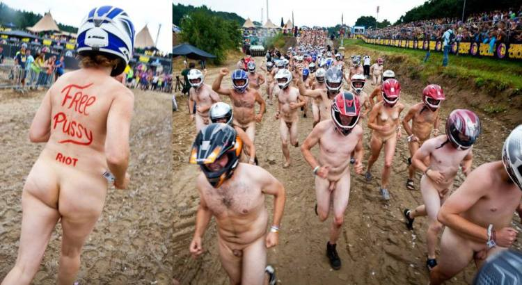 NAKED DIPLOMACY | 450 naked runners race as part of Free Pussy ...