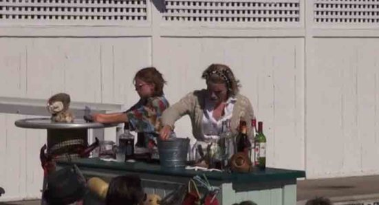 """Provincetown Tennessee Williams Theater Festival: workshop production of Jane Bowles's """"In the Summer House"""" on the pool deck of the Boatslip"""