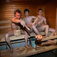 My Finnish sauna buddies by Randy Gener