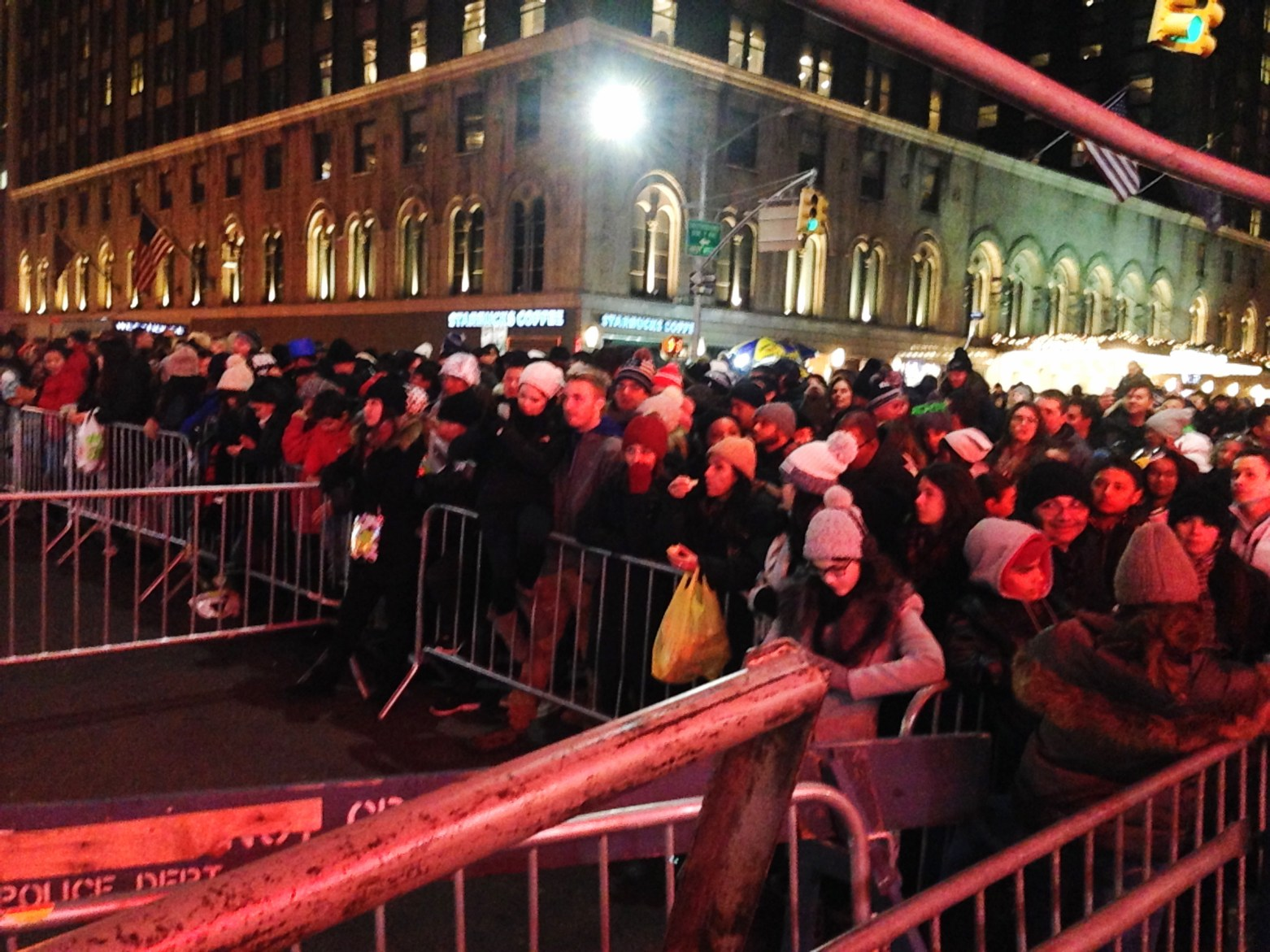 9:54pm Times Square New Year's Eve