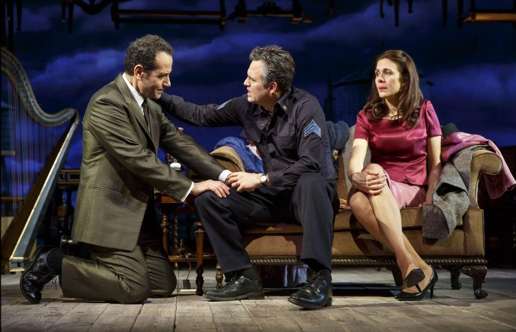 Tony Shaloub, Mark Ruffalo and Jessica Hecht in THE PRICE THE PRICE CAST Mark Ruffalo Victor Franz Tony Shalhoub Walter Franz Jessica Hecht Esther Franz Danny DeVito Gregory Solomon THE PRICE CREATIVE Arthur Miller Playwright Terry Kinney Director Derek McLane—Set Designer Sarah J. Holden—Costume Designer David Weiner—Lighting Designer Rob Milburn & Michael Bodeen—Sound Designers