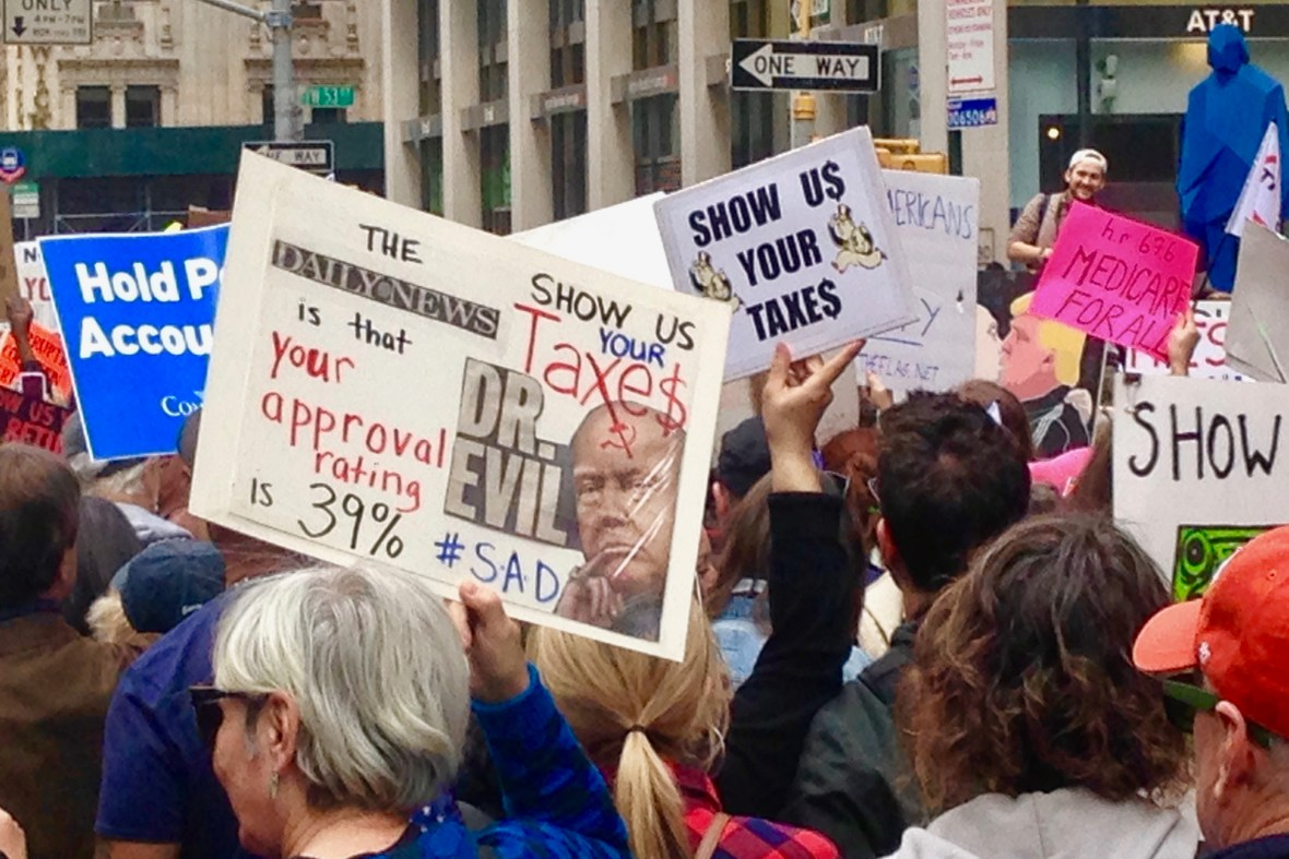 Tax March Fifth Avenue Saturday April 15, 2017   Photo by Randy Gener
