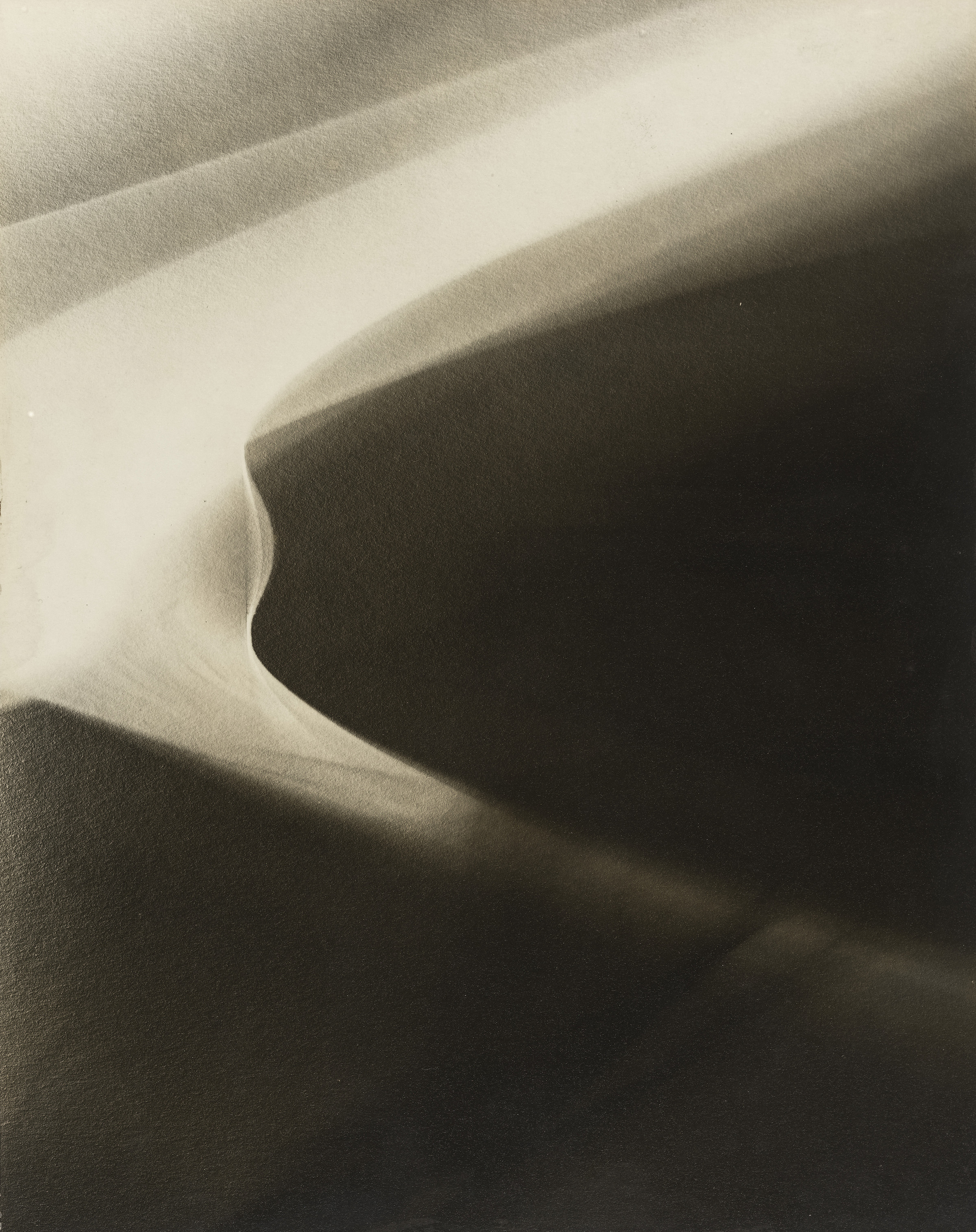"""LOTTE JACOBI (American, born Germany. 1896–1990) Abstraction #4 c. 1945-48 Gelatin silver print 9 3/4 x 7 7/8"""" (24.8 x 19.8 cm) Gift of Mrs. Charles Liebman 475.1960"""