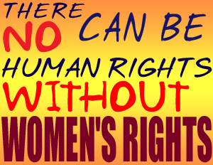 Women's Right sign