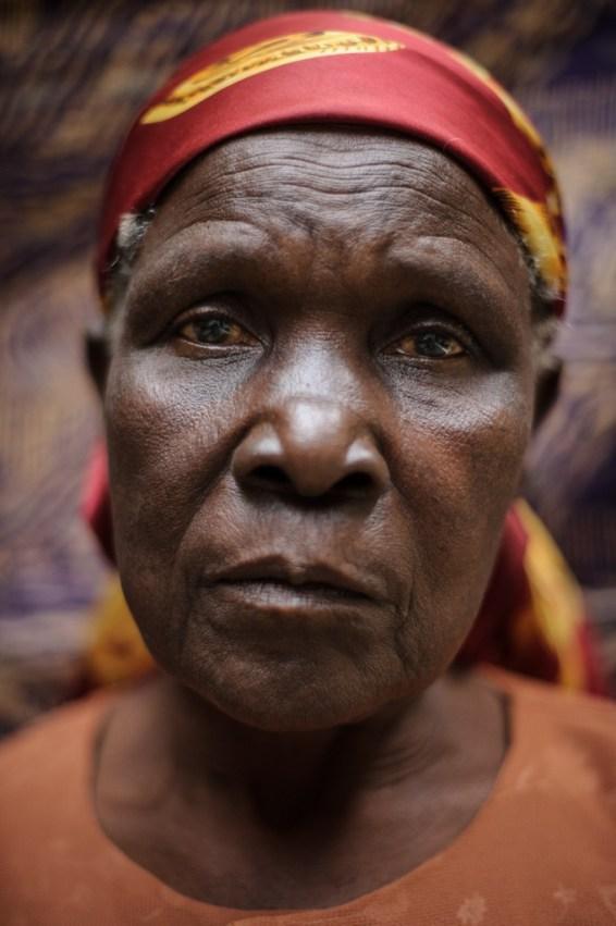 Jane Muthoni Mara - one of the three Mau Mau claiments - from Kianjiru, near Nyeri, Kenya and says she is 75 years old.
