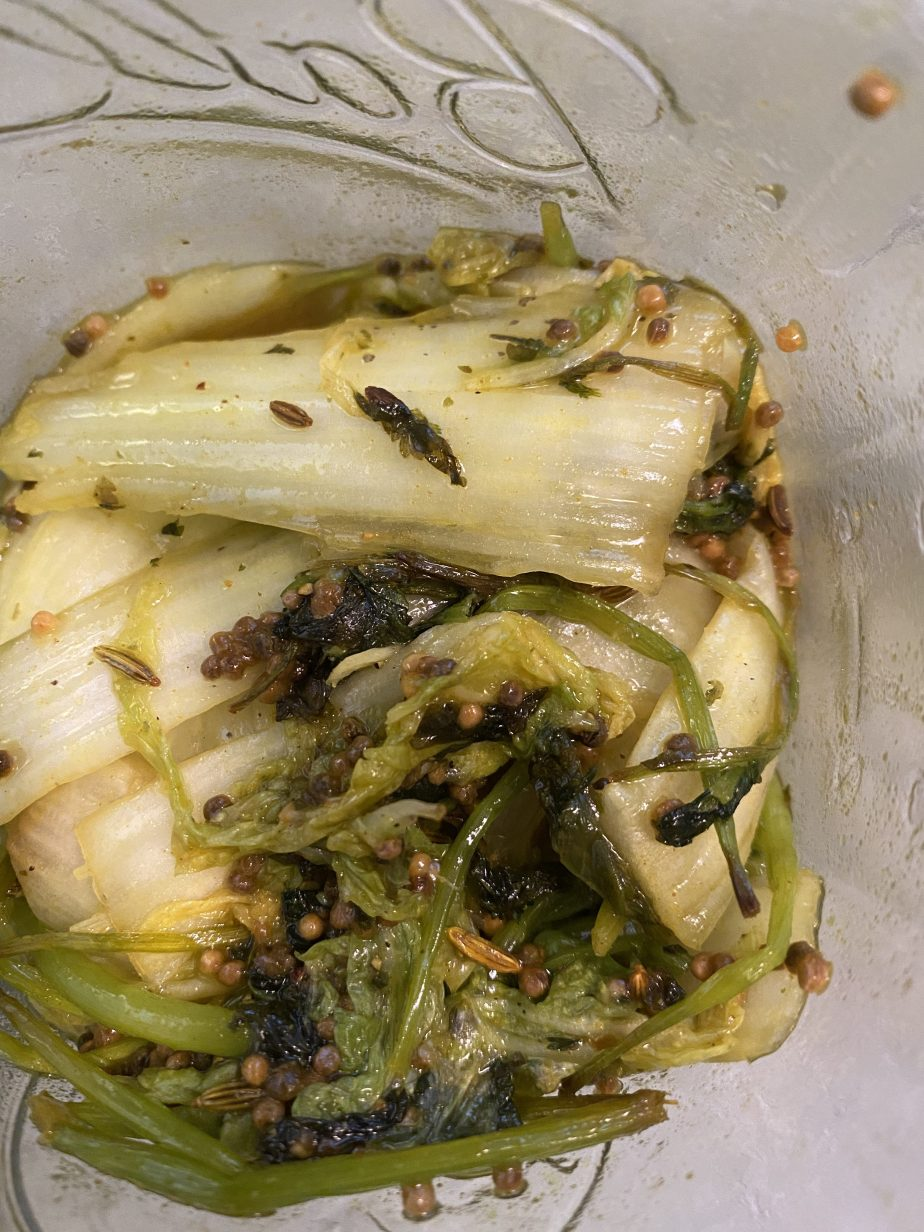 Cilantro and Mustard Seed Pickle