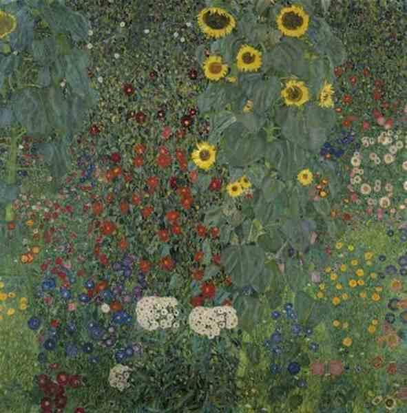 Jardin fleuri de Gustave Klimt