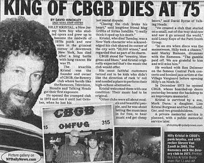 CBGB Journal