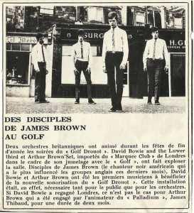 David BOWIE à paris, 1965