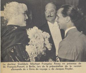 Françoise ROSAY et Joseph GOEBBELS