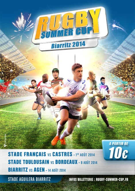 Culture Sport affiche Rugby Summer Cup