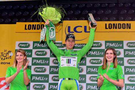 Culture Sport Peter Sagan maillot vert Londres 2014