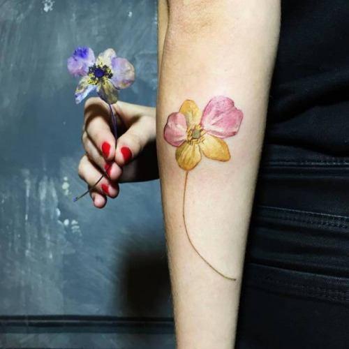 Flores Exoticas De Tatuajes