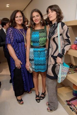 Angela and Margherita Missoni with Bella Freud
