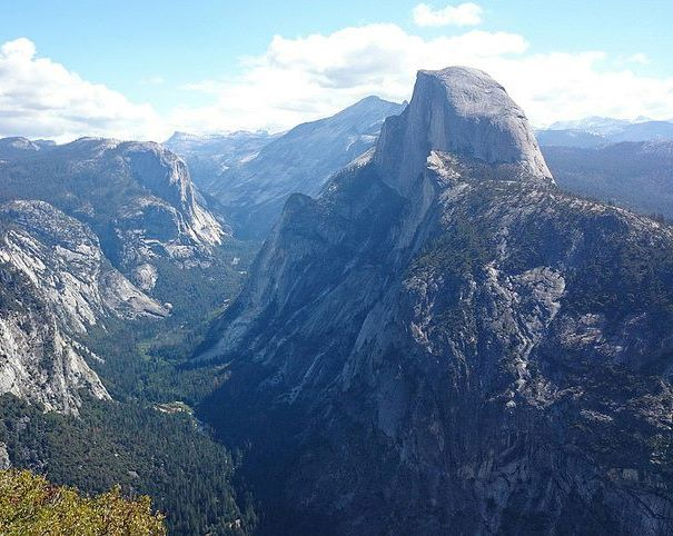 photograph of Yosemite's Half Dome peak in the daytime