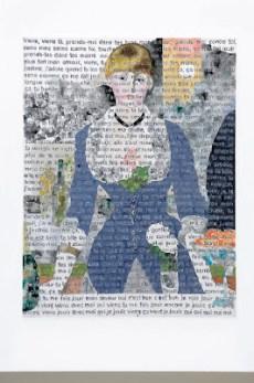 """Agnès Thurnauer,"""" L'Origine du Monde (Folies Bergères)"""", 2005, Acrylique sur toile, (240 x 190 cm)"""
