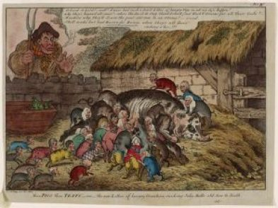Figure 1 More Pigs Than Teats Or The New Litter Of Hungry Grunters Sucking John Bulls Old Sow To Death 1806 Piggy Politics An Early
