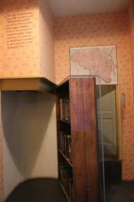 The entrance to The Secret Annex that was hidden by a bookshelf inside the Anna Frank House. Photo take by Josie Lucero.