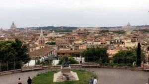 View of the Piazza del Popolo from a hill