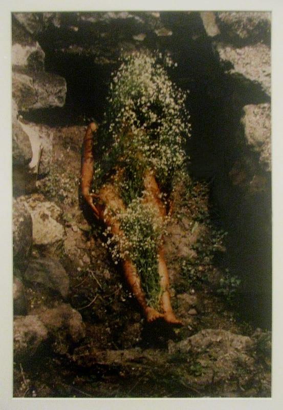 Ana Mendieta work Imagen de Yagul