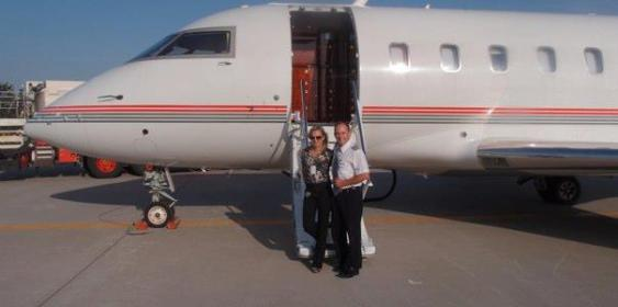 Photo is of Kira Gregory's parents, her mom being a flight attendant and her dad a pilot.