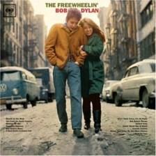 專輯The Freewheelin' Bob Dylan,Blowin in the Wind。 圖片來源自Columbia