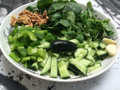 Green gazpacho - Ottolenghi