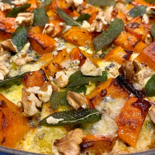 Pumpkin gnocchi bake with sage