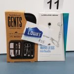 Man's Gift Set - bluetooth wireless earbuds, 8 pc. Men's Grooming Set and a $25 Lowe's gift card - Retail Value $60.